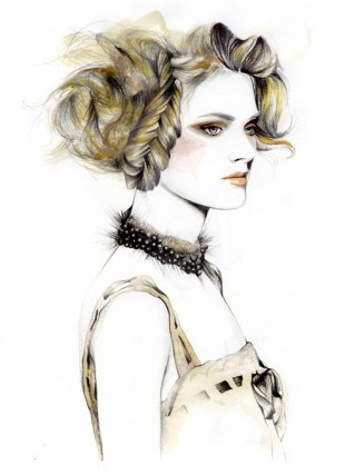 Caroline Andrieu, fashion illustrator