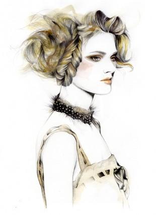 Caroline Andrieu, fashion illustrator